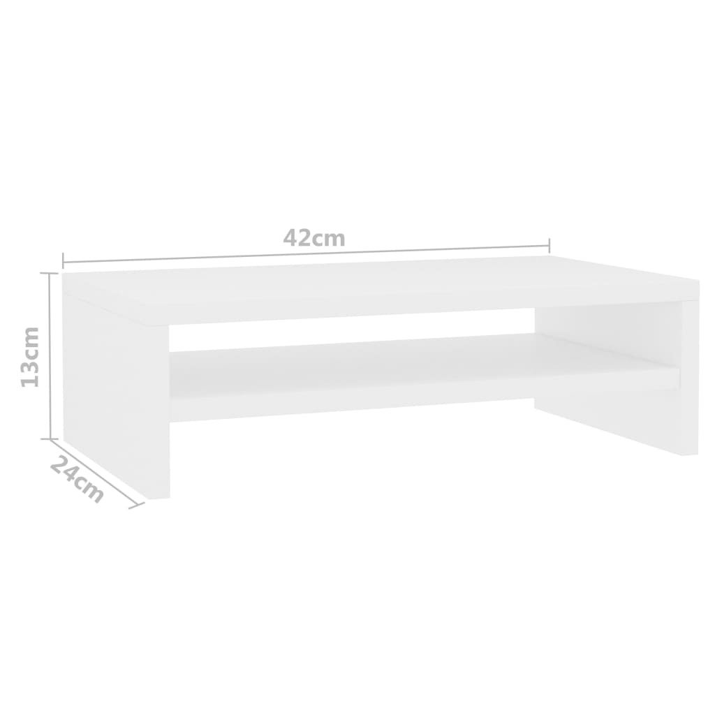 Monitor Stand White 42x24x13 cm Chipboard 6