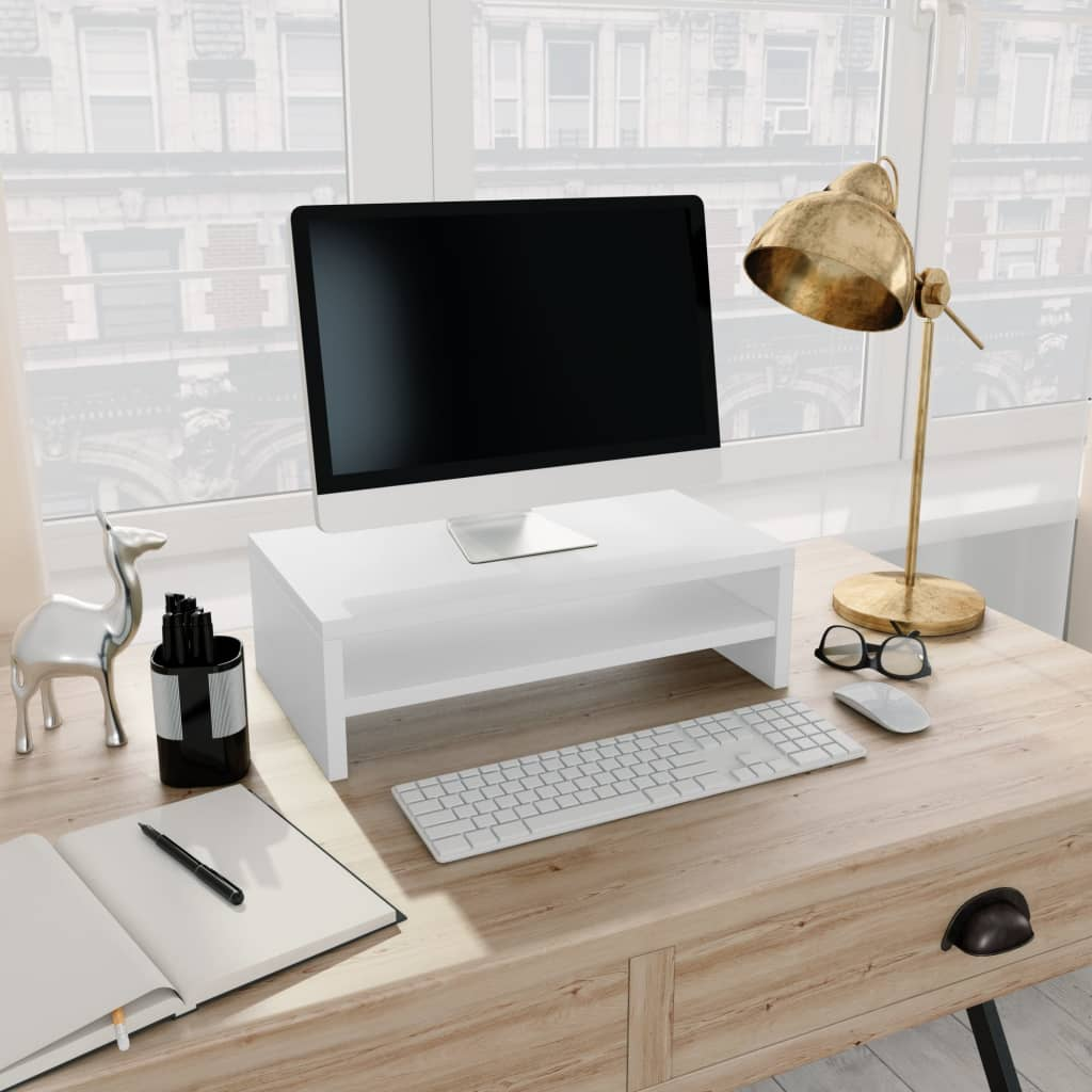 Monitor Stand White 42x24x13 cm Chipboard 1