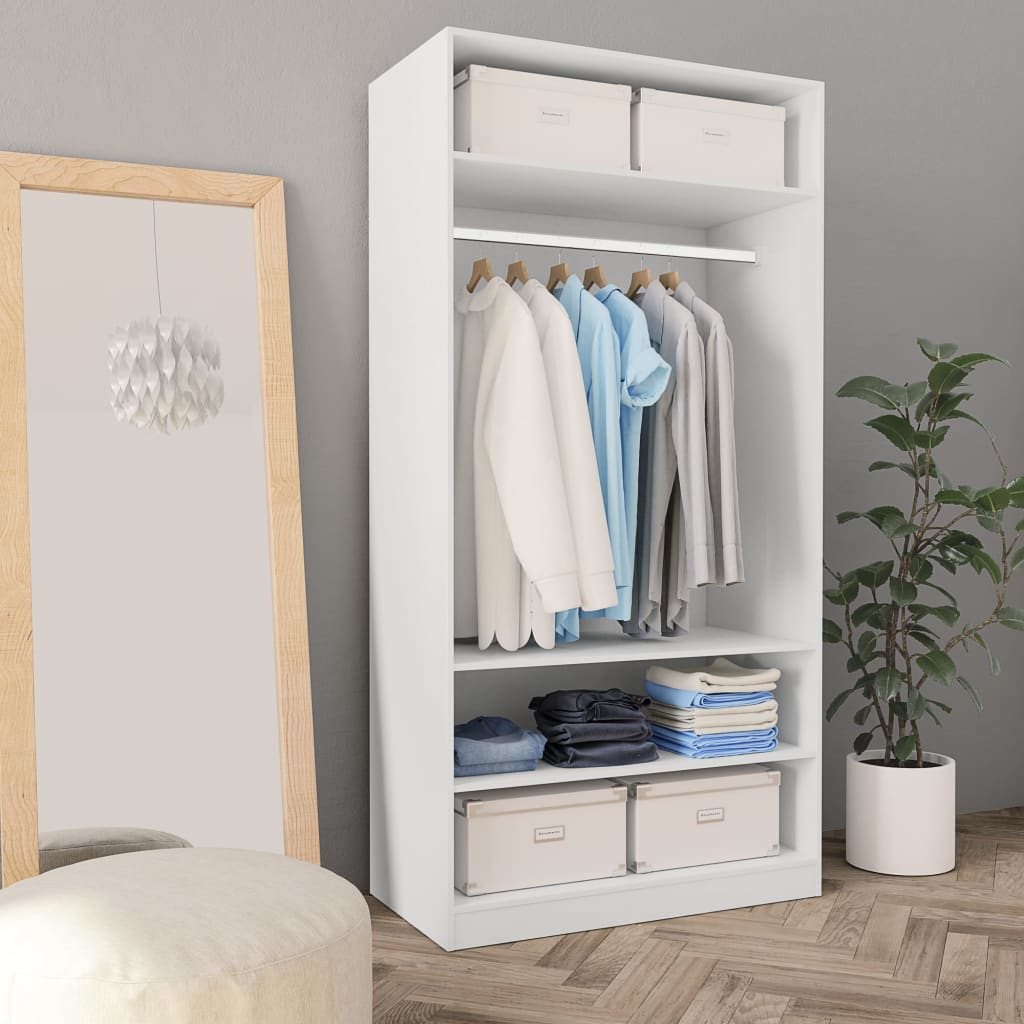 Wardrobe White 100x50x200 cm Chipboard 1