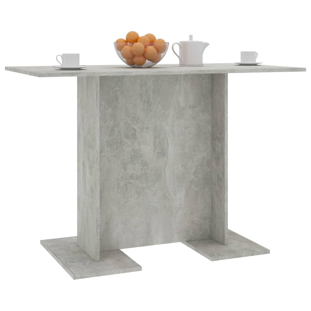 Dining Table Concrete Grey 110x60x75 cm Chipboard 3