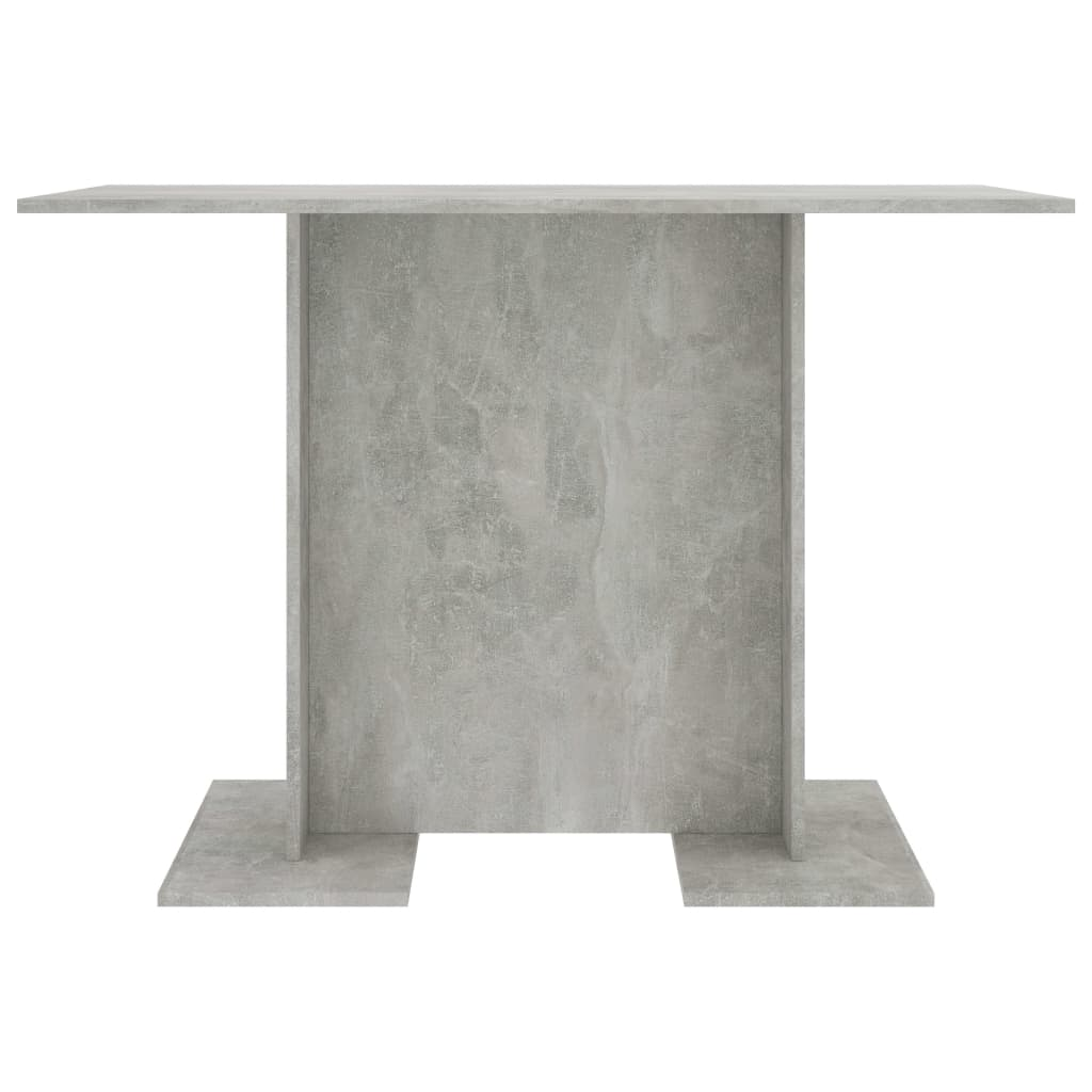 Dining Table Concrete Grey 110x60x75 cm Chipboard 4