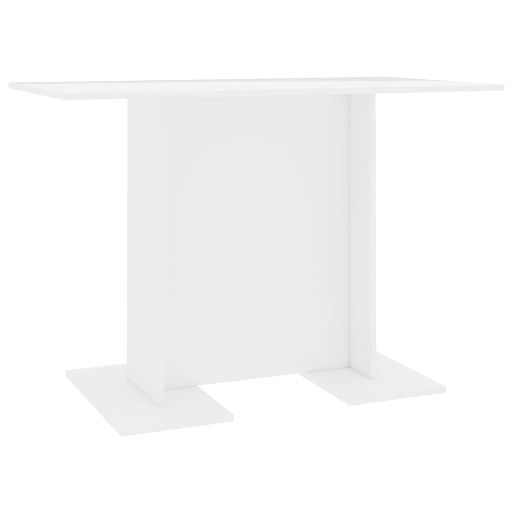Dining Table High Gloss White 110x60x75 cm Chipboard 2