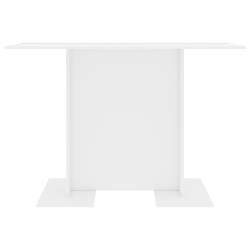 Dining Table High Gloss White 110x60x75 cm Chipboard 4
