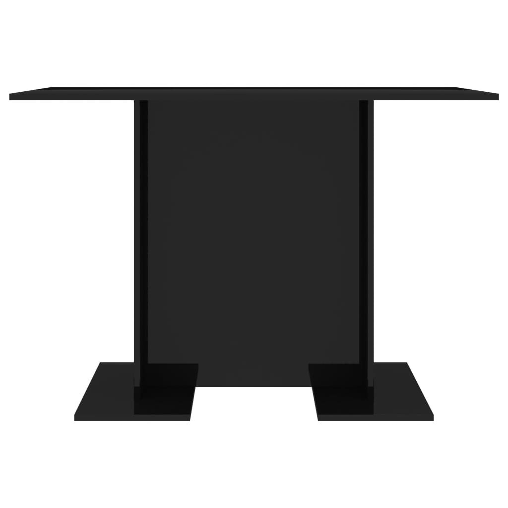 Dining Table High Gloss Black 110x60x75 cm Chipboard 4