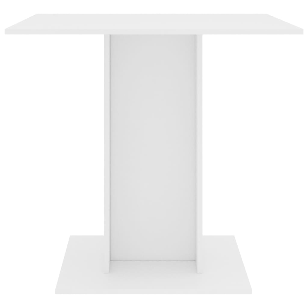 Dining Table White 80x80x75 cm Chipboard 4