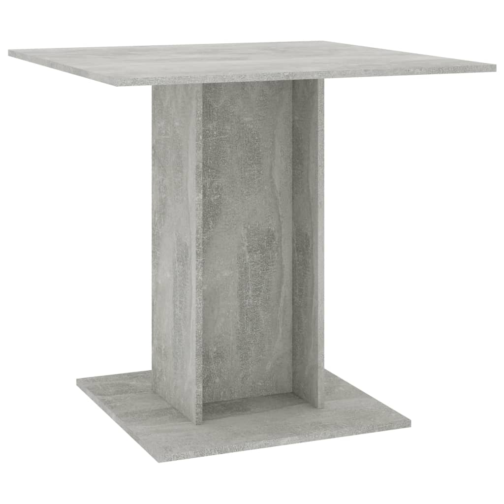 Dining Table Concrete Grey 80x80x75 cm Chipboard 2