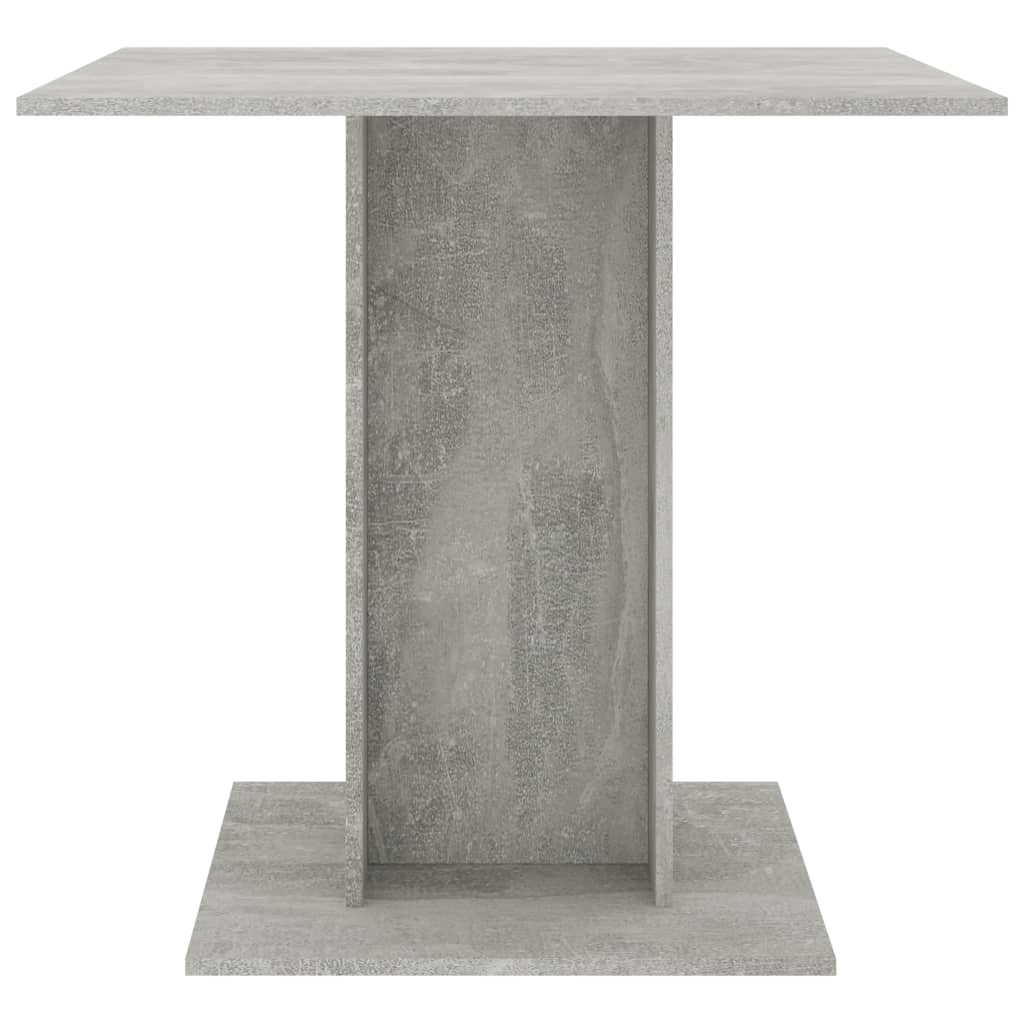 Dining Table Concrete Grey 80x80x75 cm Chipboard 4