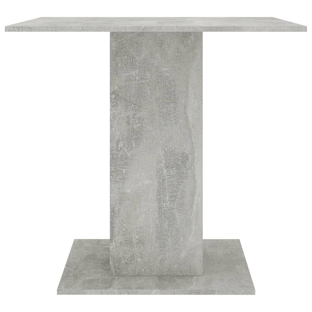 Dining Table Concrete Grey 80x80x75 cm Chipboard 5