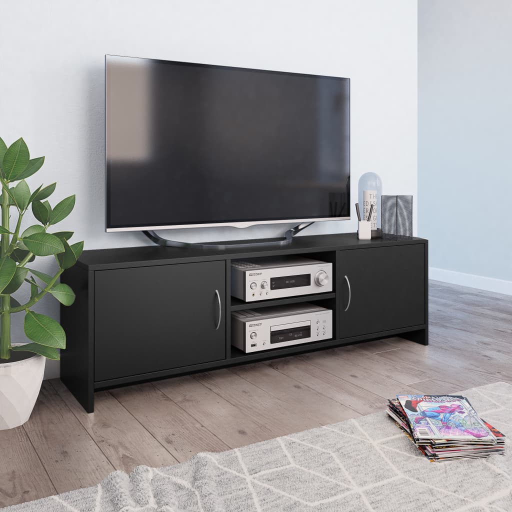 TV Cabinet Black 120x30x37,5 cm Chipboard