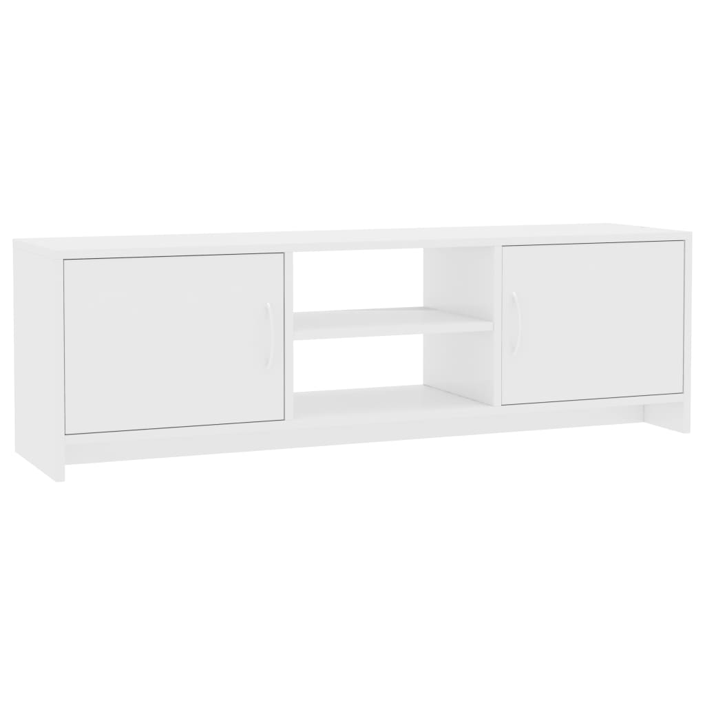 TV Cabinet High Gloss White 120x30x37,5 cm Chipboard 2