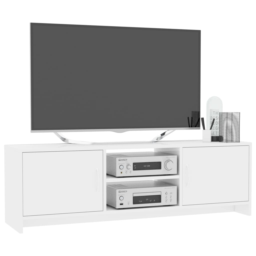TV Cabinet High Gloss White 120x30x37,5 cm Chipboard 4