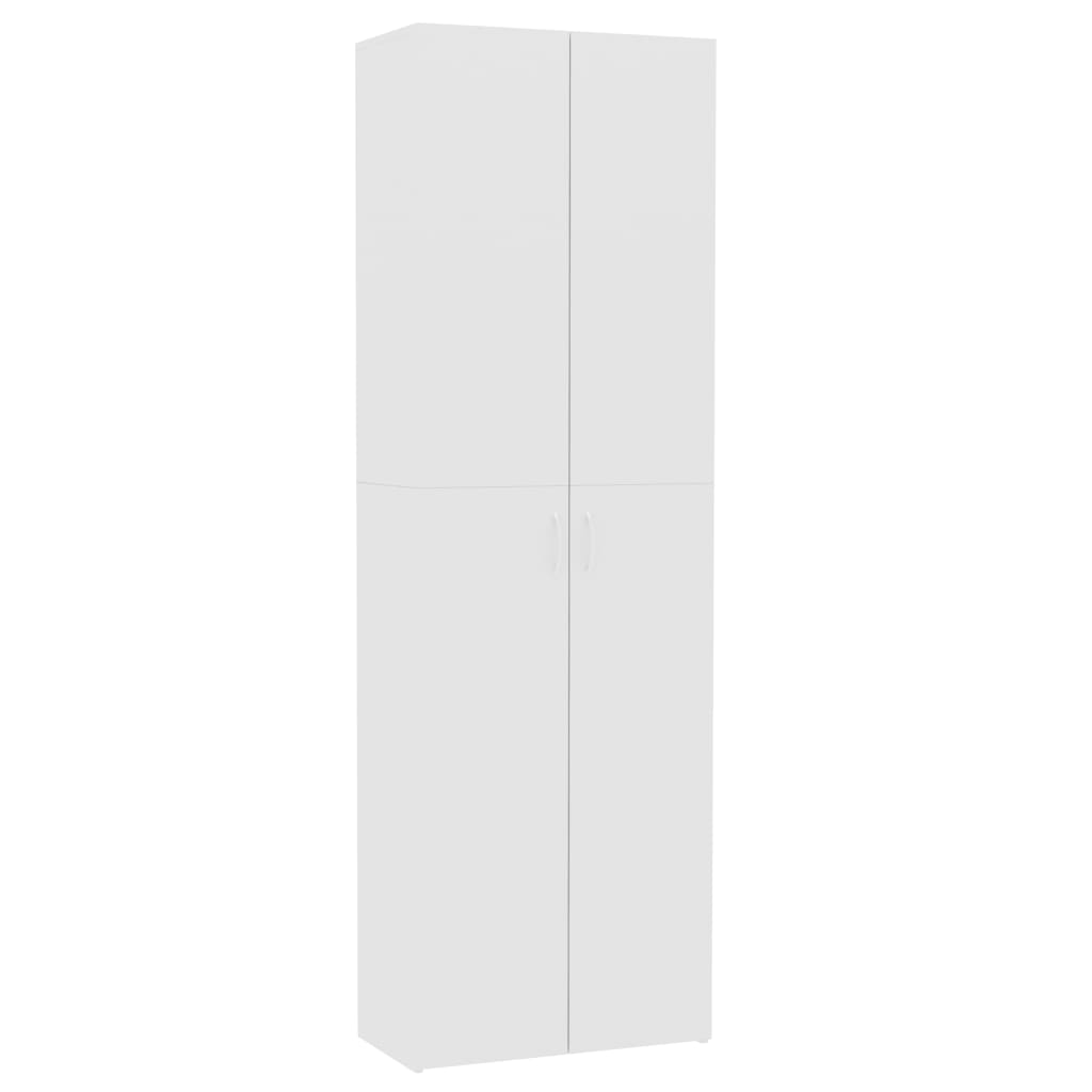 Office Cabinet High Gloss White 60x32x190 cm Chipboard 2