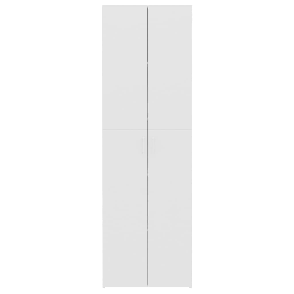 Office Cabinet High Gloss White 60x32x190 cm Chipboard 6