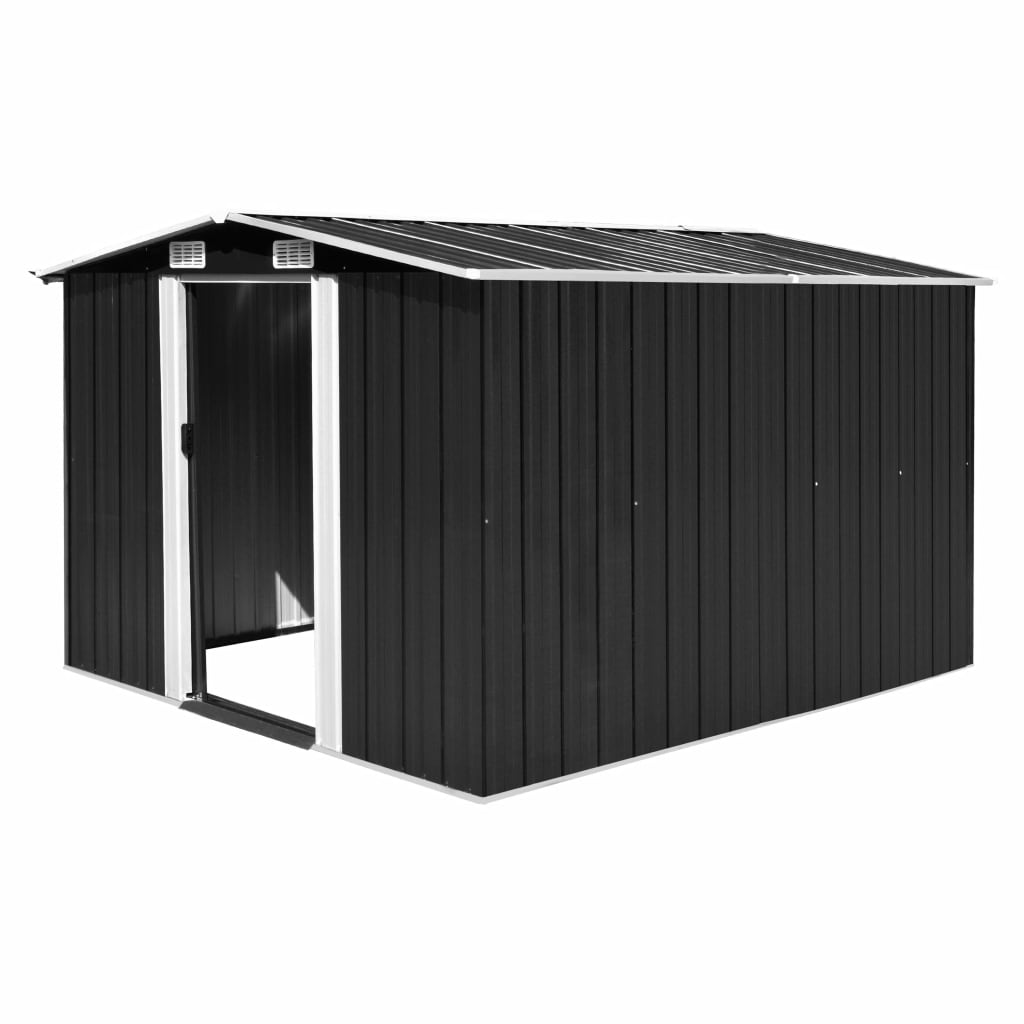 Garden Shed 257x298x178 cm Metal Anthracite 1