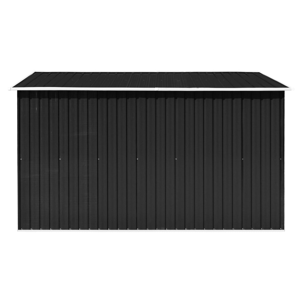 Garden Shed 257x298x178 cm Metal Anthracite 6