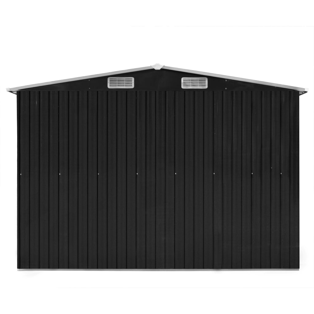 Garden Shed 257x298x178 cm Metal Anthracite 7