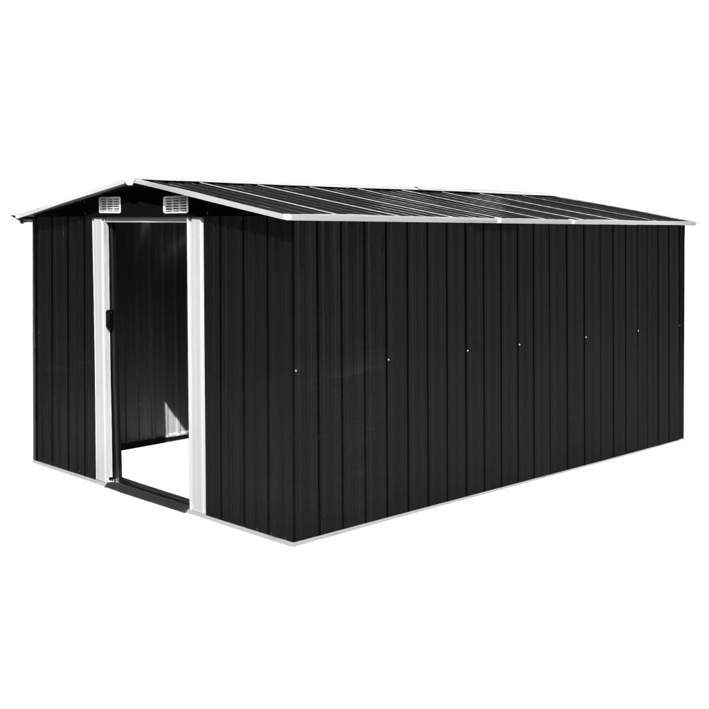 Garden Shed 257x398x178 cm Metal Anthracite 1