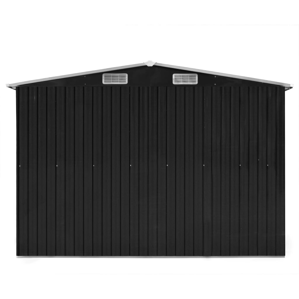 Garden Shed 257x398x178 cm Metal Anthracite 7