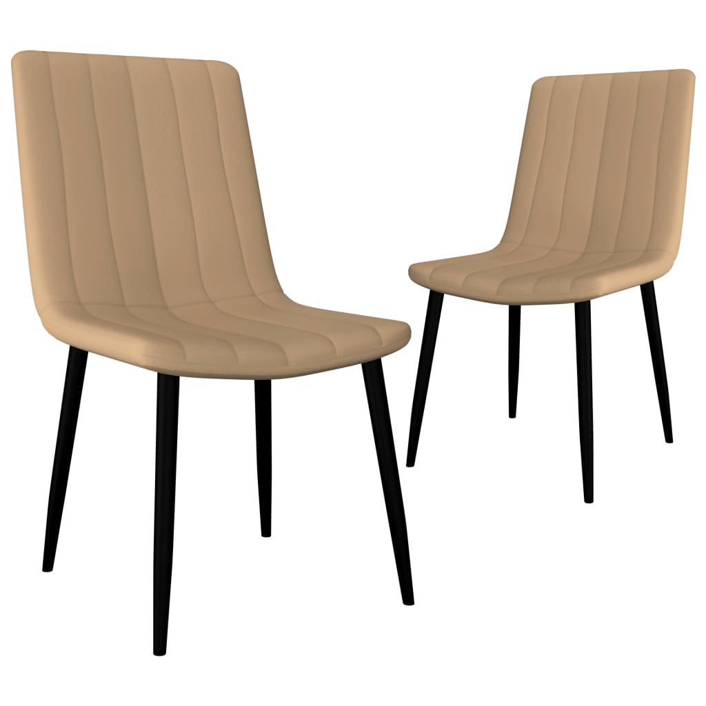 Dining Chairs 2 pcs Cream Faux Leather