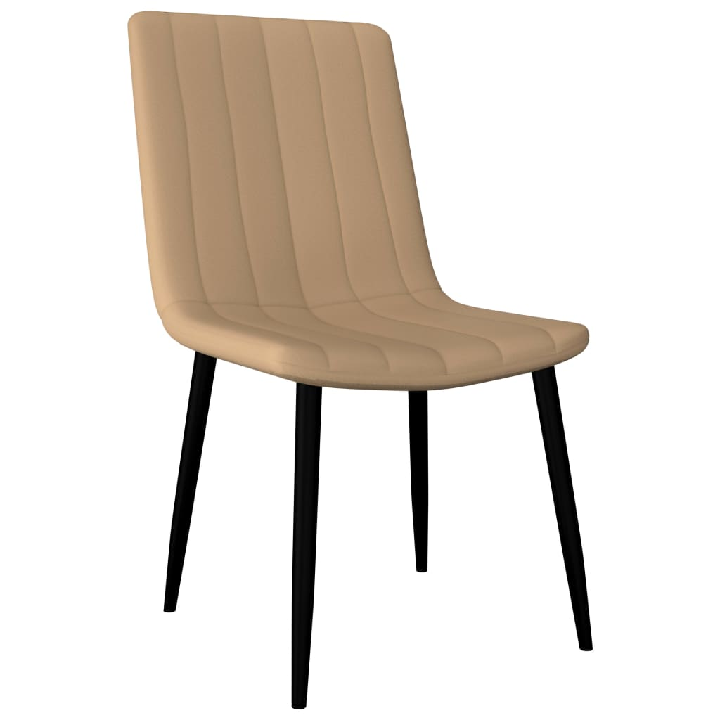 Dining Chairs 4 pcs Cream Faux Leather 2