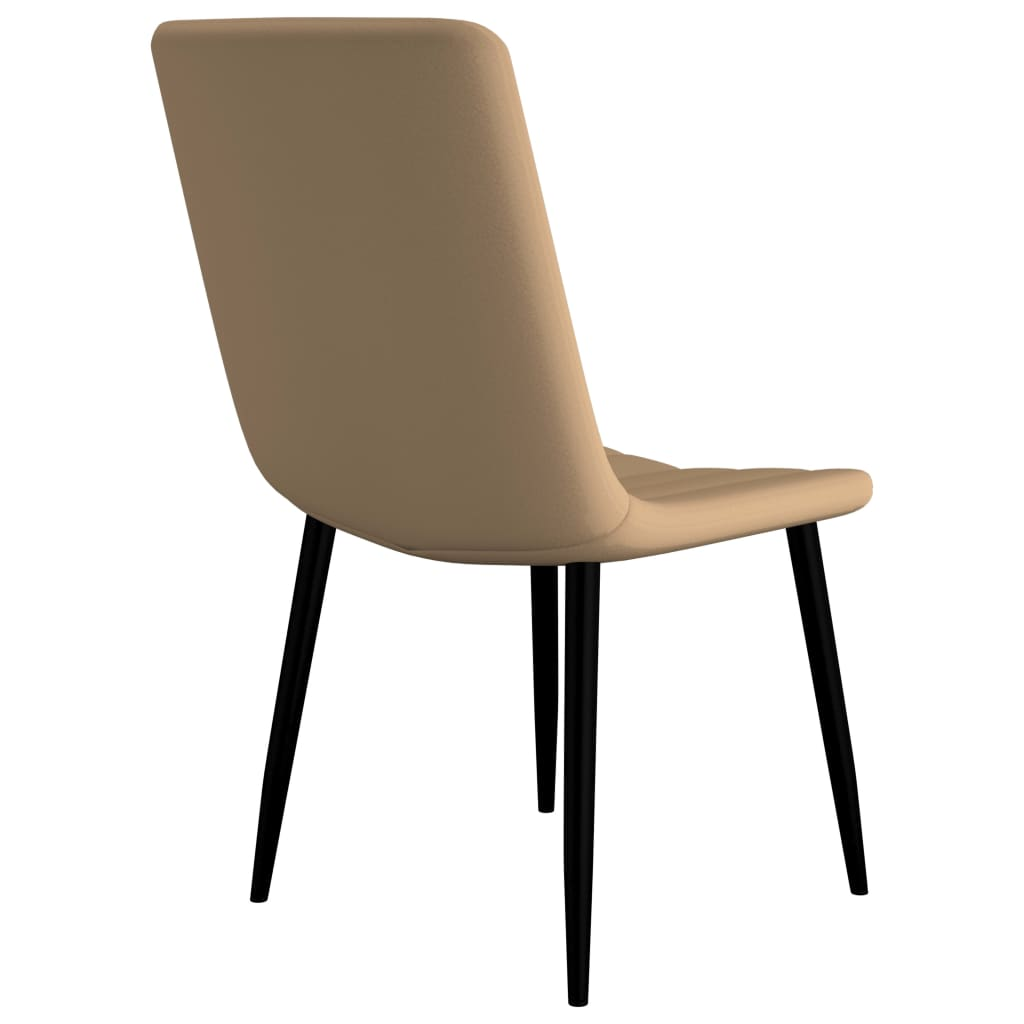 Dining Chairs 4 pcs Cream Faux Leather 5