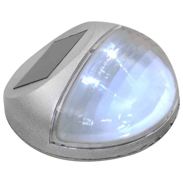 Outdoor Solar Wall Lamps LED 24 pcs Round Silver 5