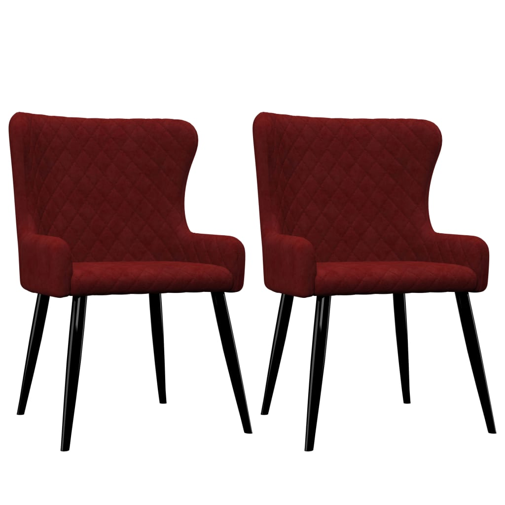 Dining Chairs 2 pcs Red Velvet 1