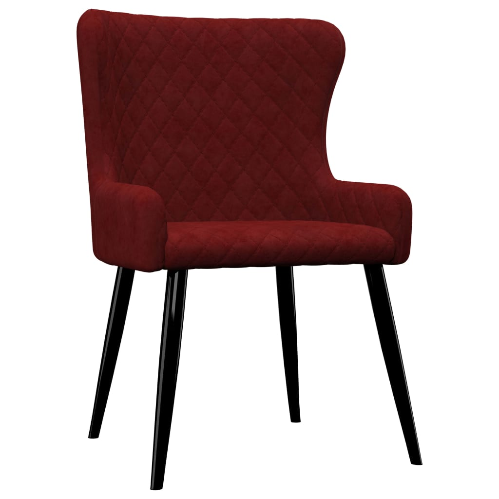 Dining Chairs 2 pcs Red Velvet 2