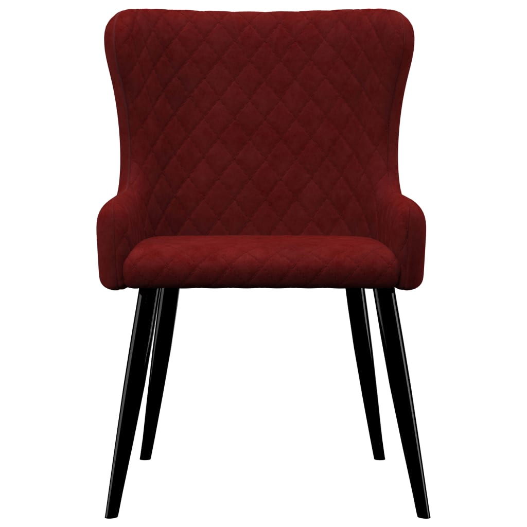 Dining Chairs 2 pcs Red Velvet 3