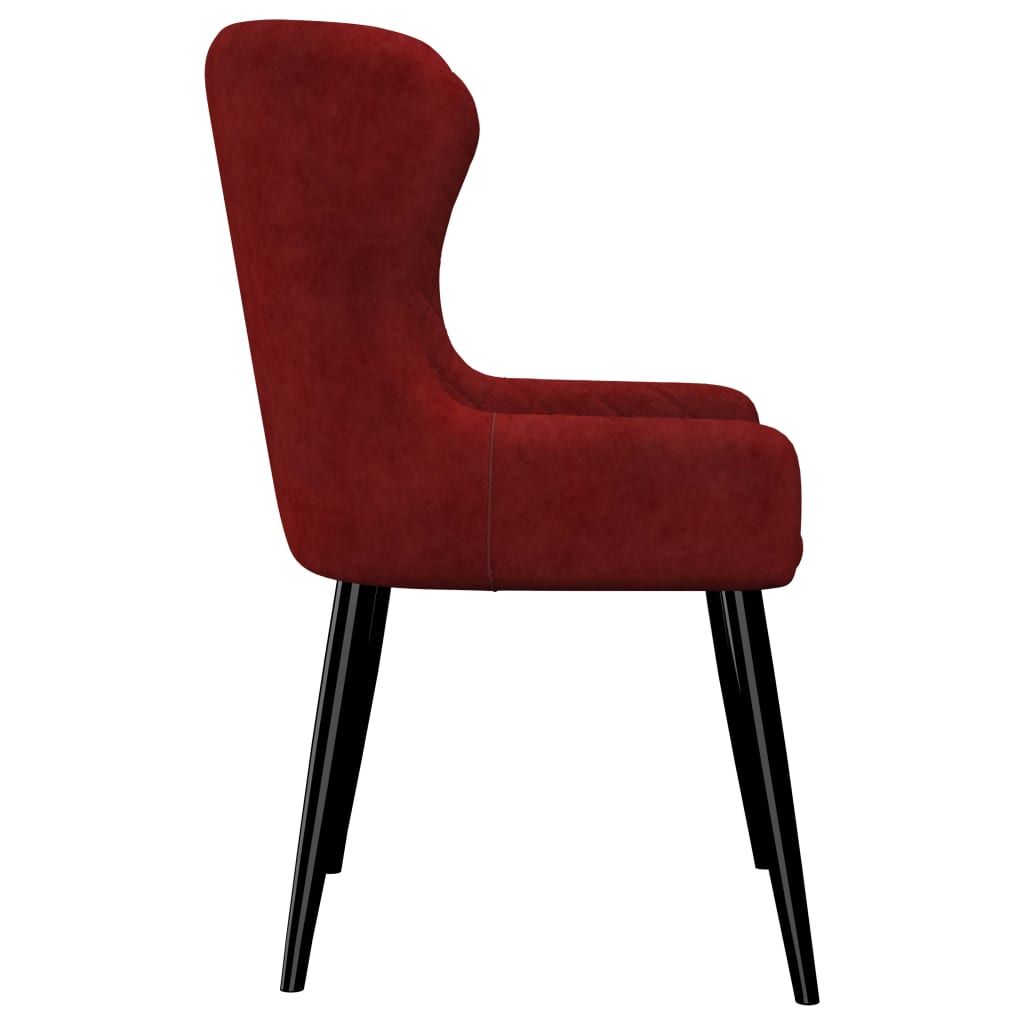 Dining Chairs 2 pcs Red Velvet 4