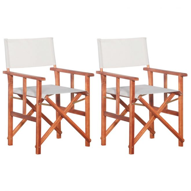 Director's Chairs 2 pcs Solid Acacia Wood 1