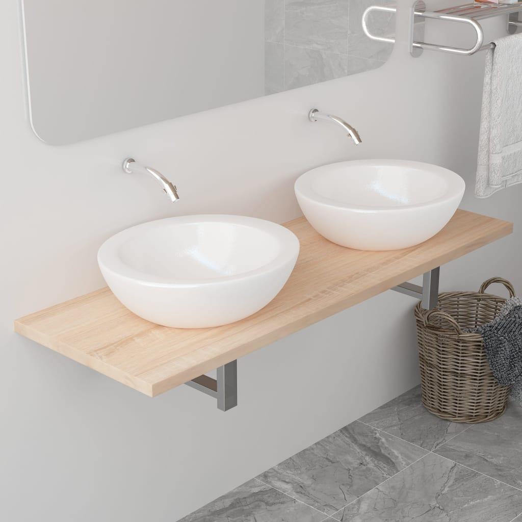 Bathroom Furniture Oak 120x40x16.3 cm