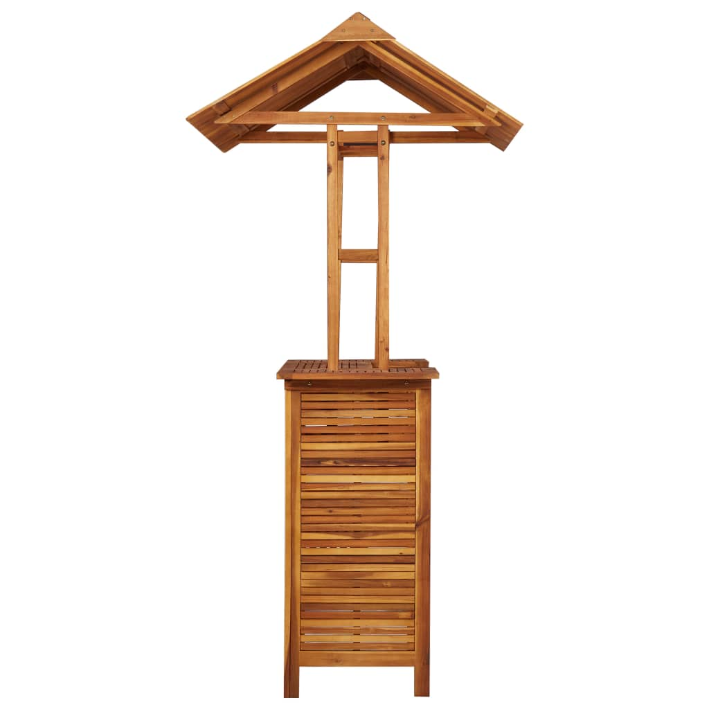 Outdoor Bar Table with Rooftop 122x106x217 cm Solid Acacia Wood 5