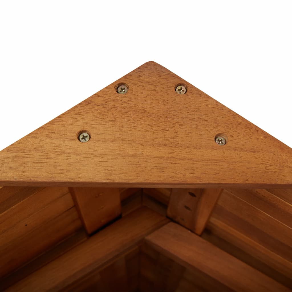 Outdoor Bar Table with Rooftop 122x106x217 cm Solid Acacia Wood 8