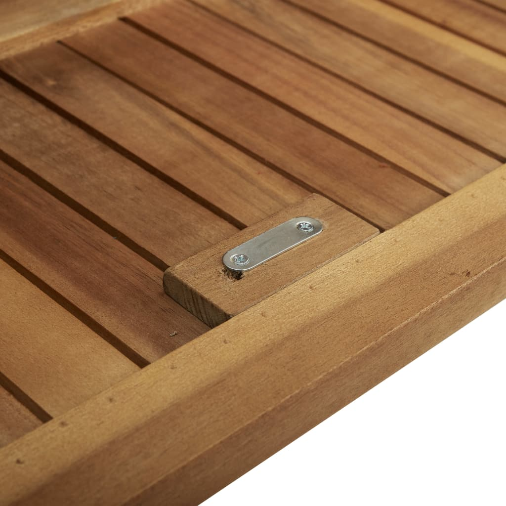 Storage Bench with Cushion 148 cm Solid Acacia Wood 10