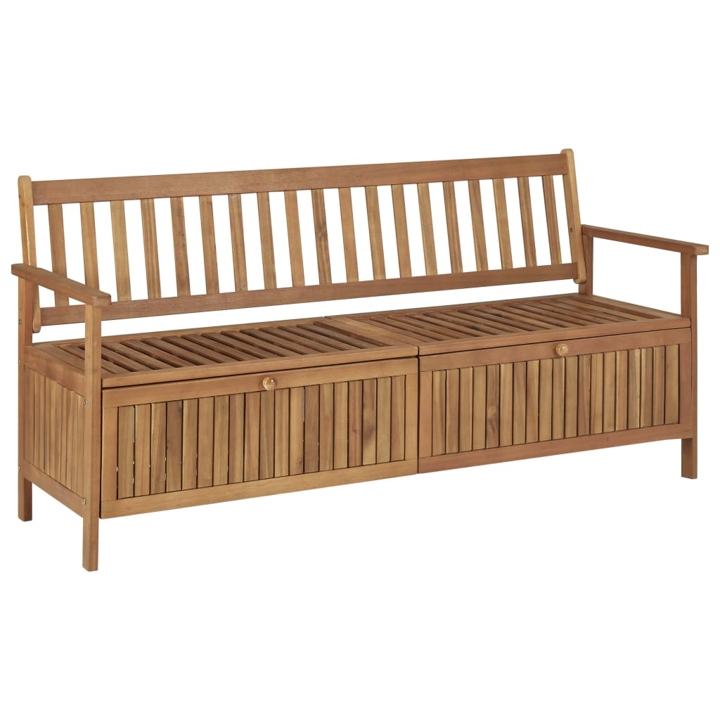 Storage Bench with Cushion 170 cm Solid Acacia Wood 10