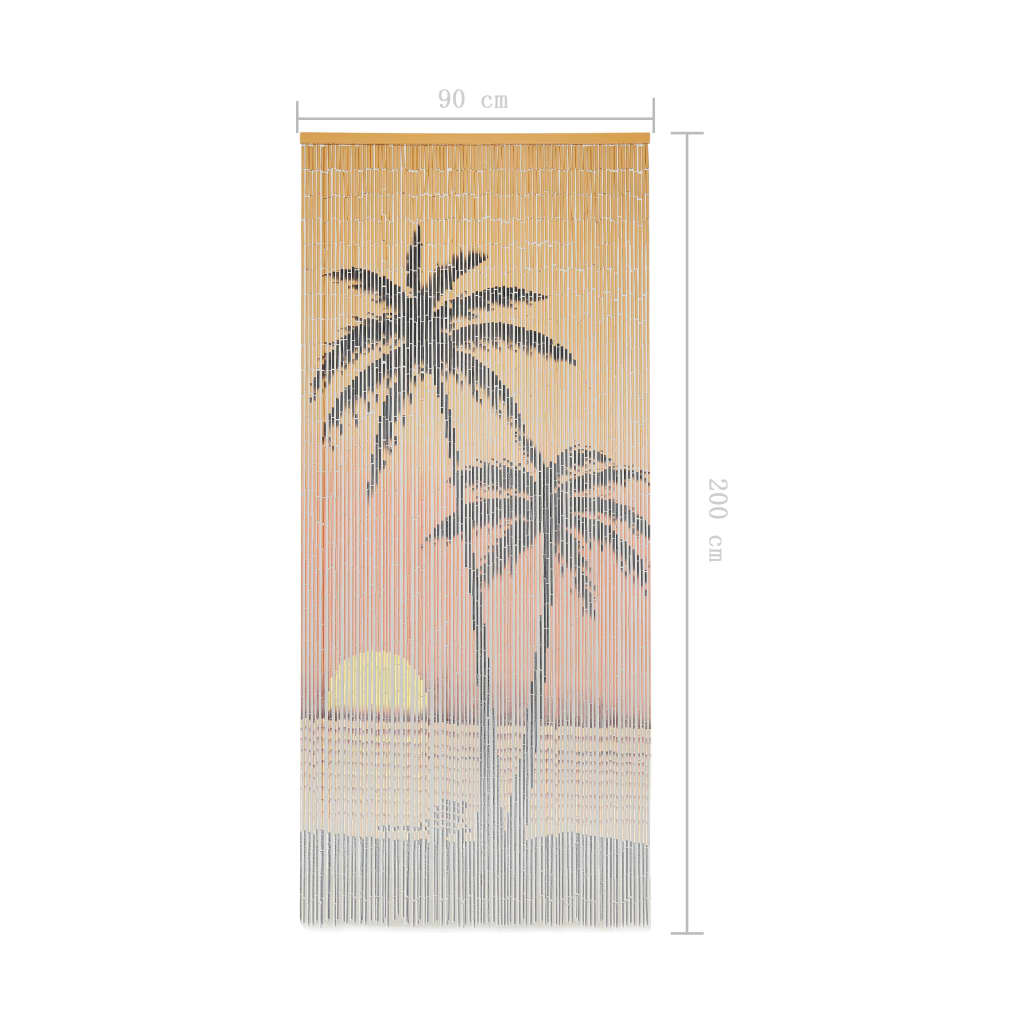 Insect Door Curtain Bamboo 90×200 cm 5