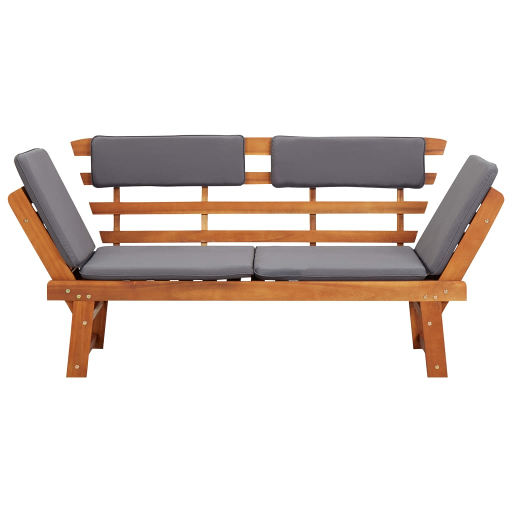 2-in-1 Garden Daybed with Cushion 190 cm Solid Acacia Wood 5