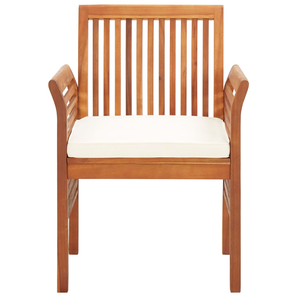 Garden Dining Chair with Cushion Solid Acacia Wood 2
