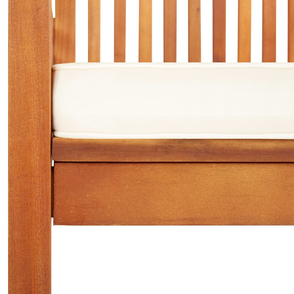 Garden Dining Chair with Cushion Solid Acacia Wood 5