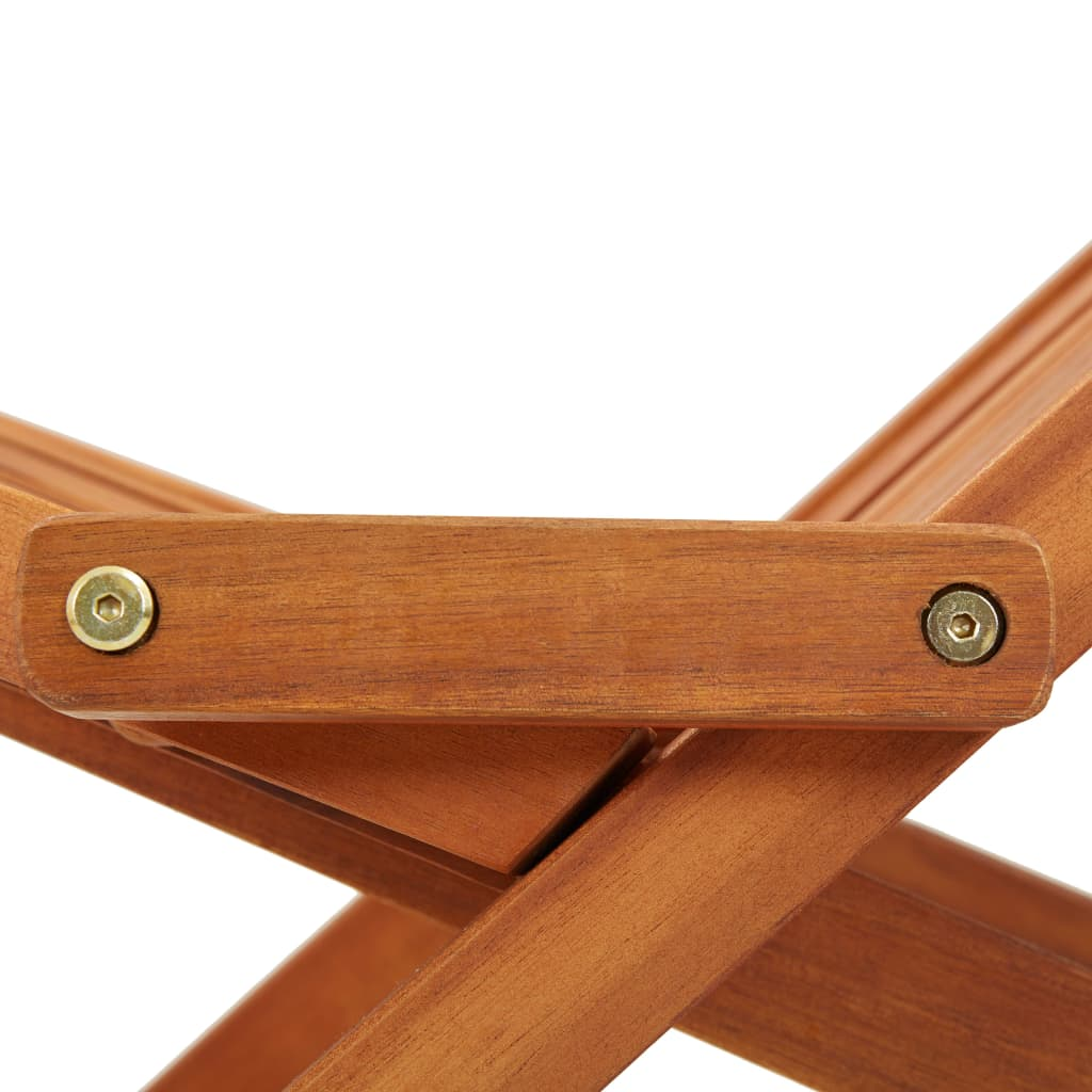 Folding Outdoor Lounge Chair Solid Acacia Wood 7