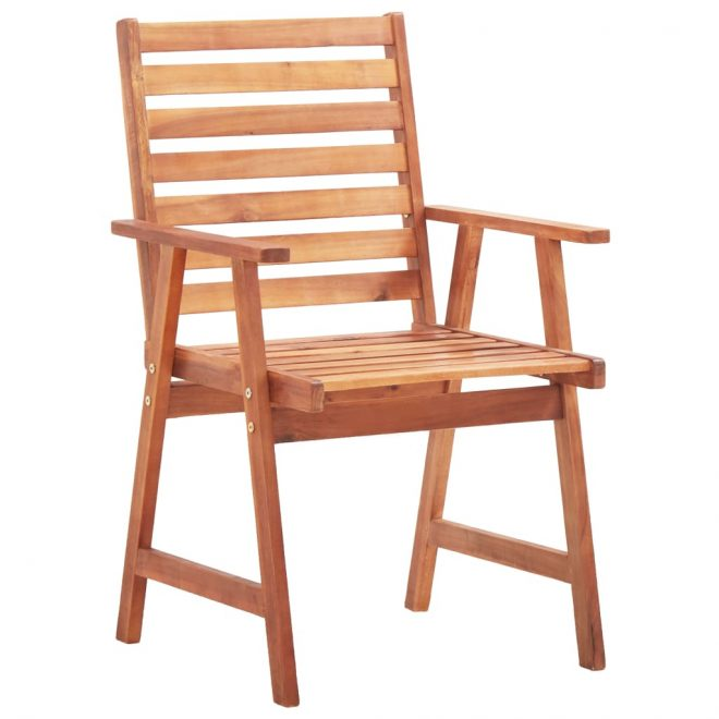 Outdoor Dining Chairs 2 pcs Solid Acacia Wood 2