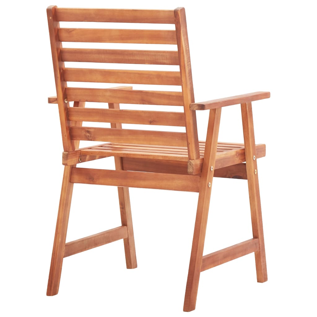 Outdoor Dining Chairs 2 pcs Solid Acacia Wood 5