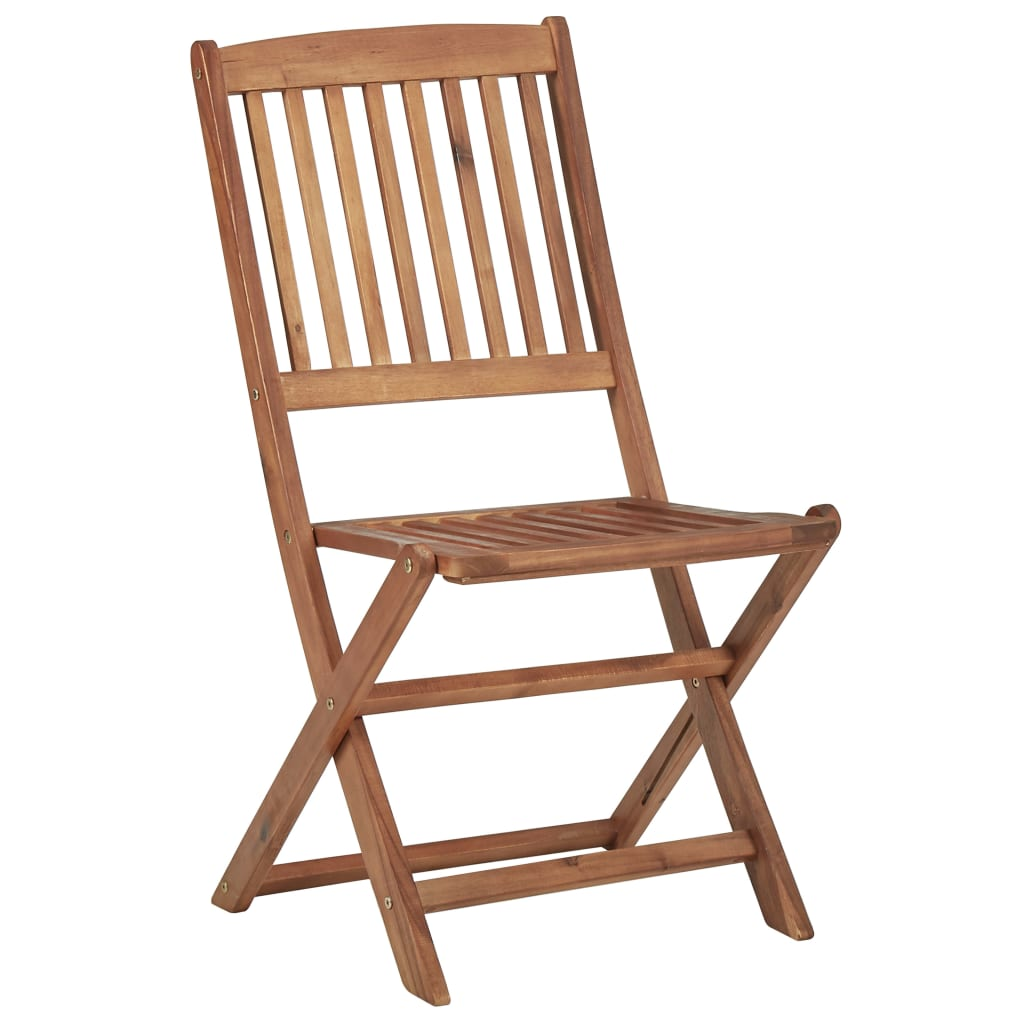 Folding Outdoor Chairs 4 pcs Solid Acacia Wood 2