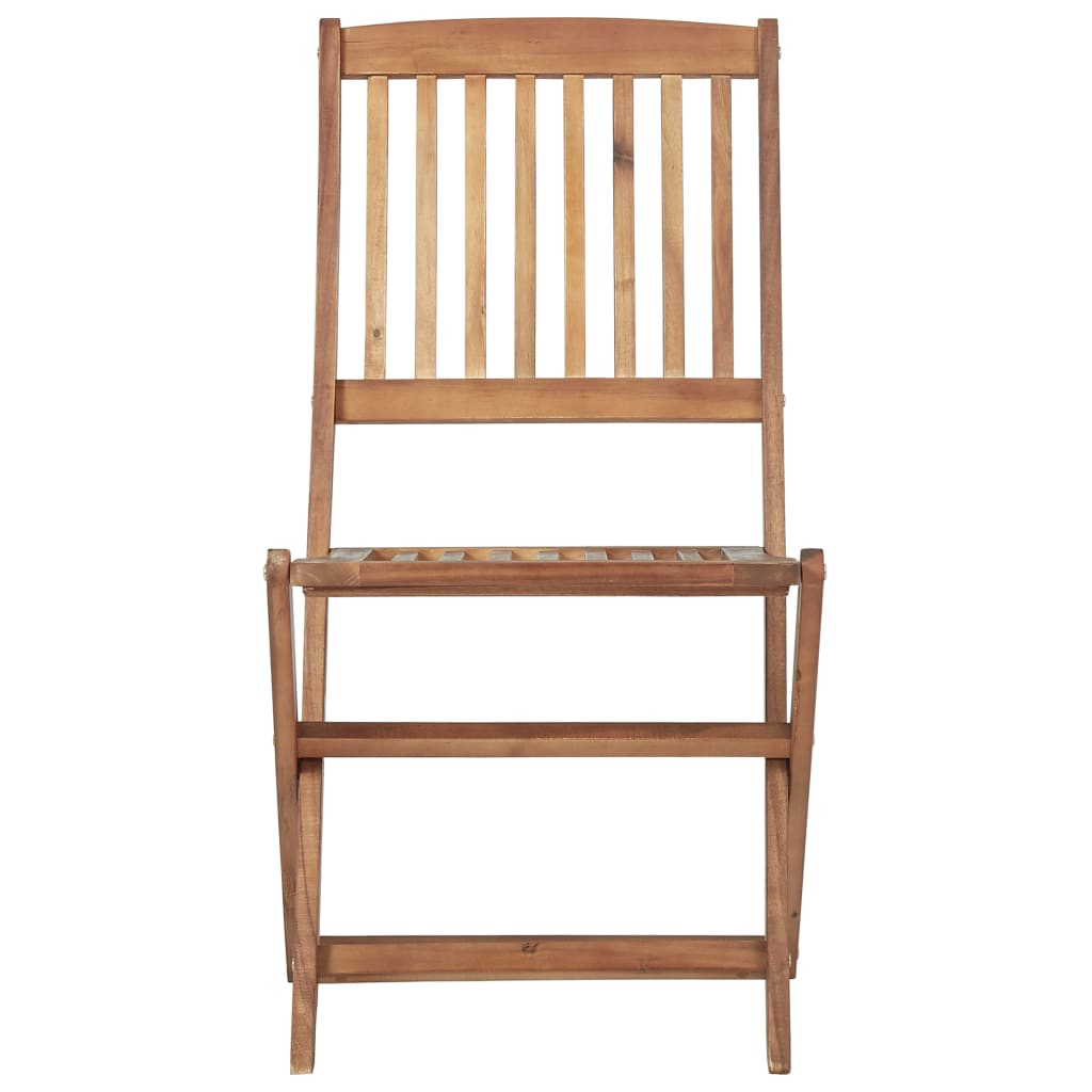 Folding Outdoor Chairs 4 pcs Solid Acacia Wood 3