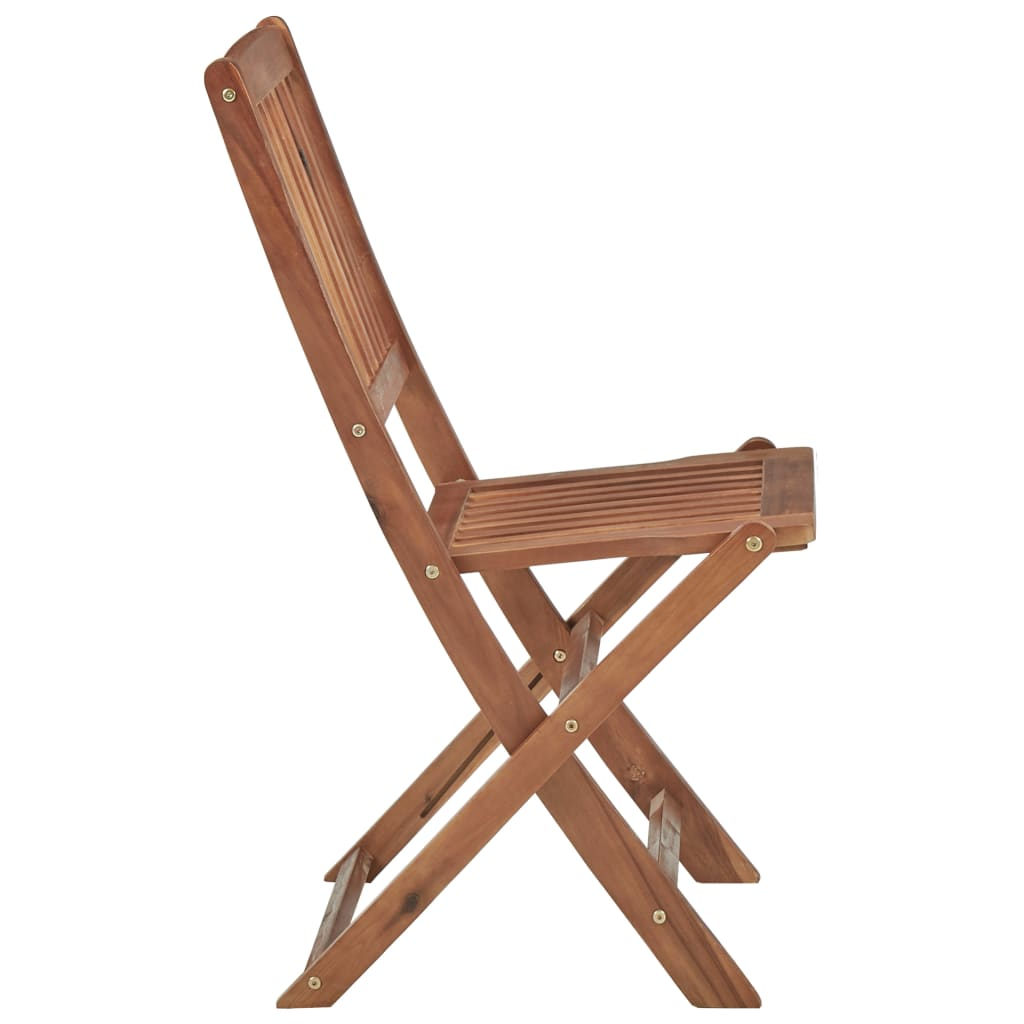 Folding Outdoor Chairs 4 pcs Solid Acacia Wood 4