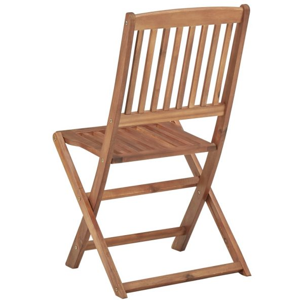 Folding Outdoor Chairs 4 pcs Solid Acacia Wood 5