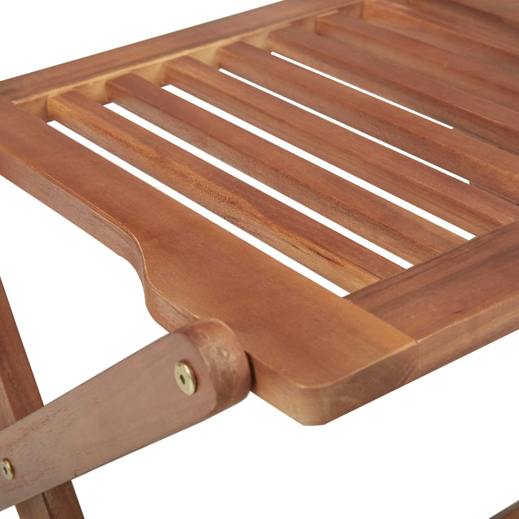 Folding Outdoor Chairs 4 pcs Solid Acacia Wood 6