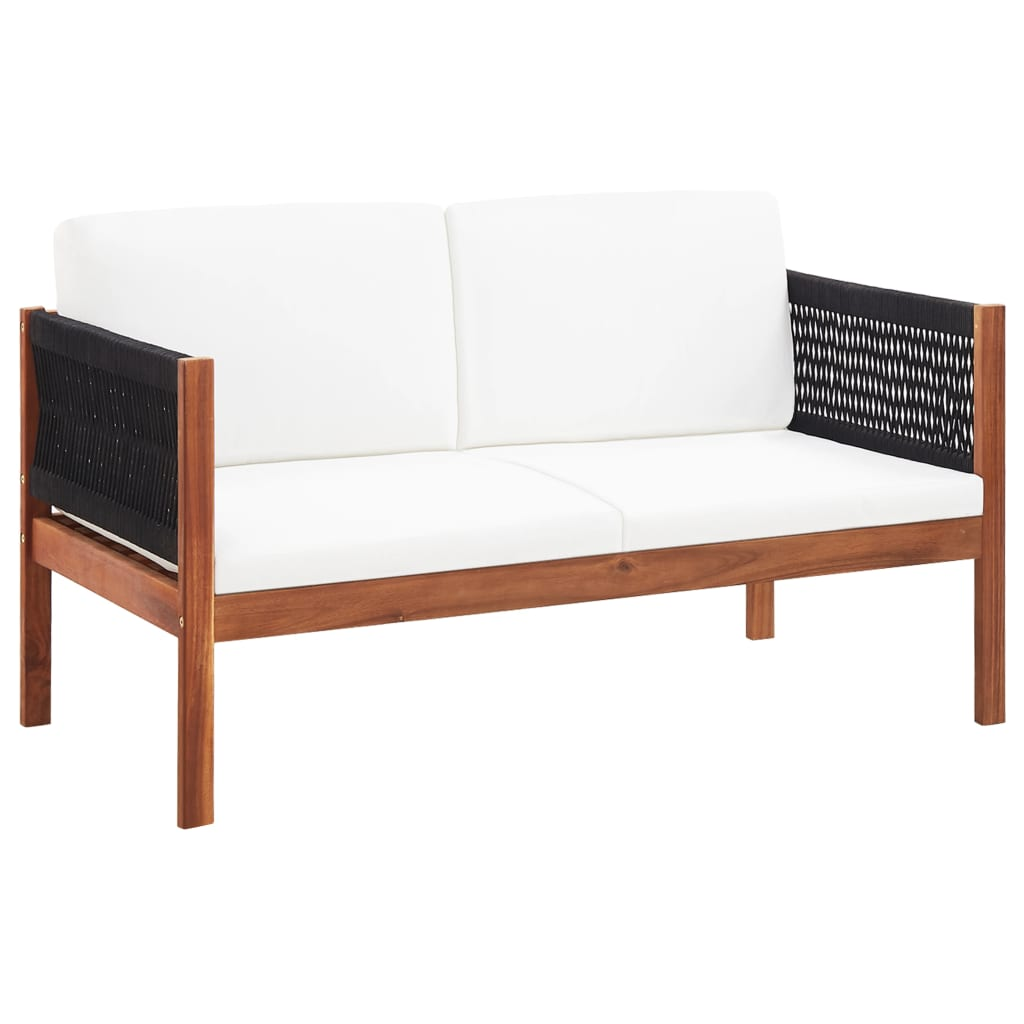 Garden Sofa 2-Seater Solid Acacia Wood 1