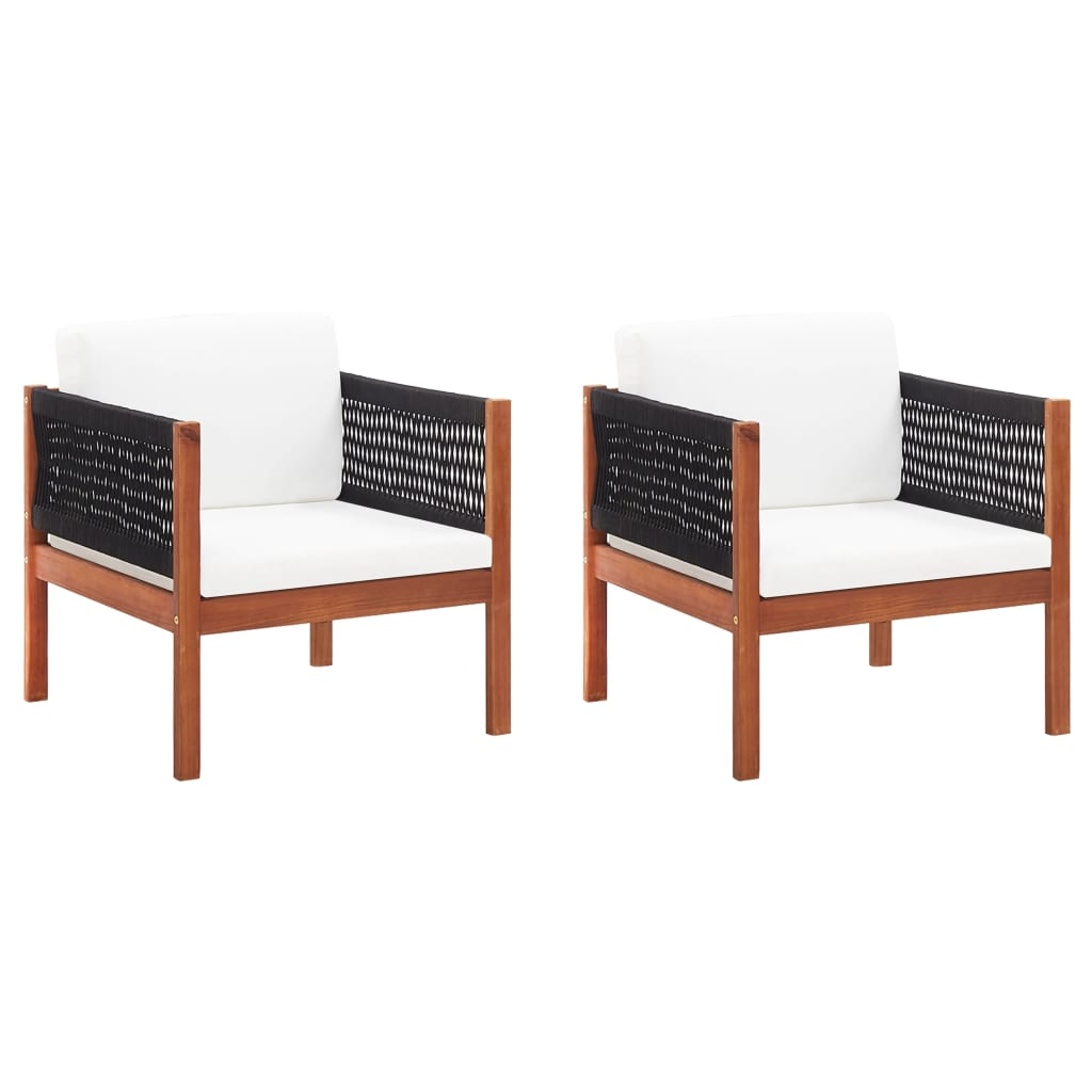 Garden Chairs 2 pcs Solid Acacia Wood 1